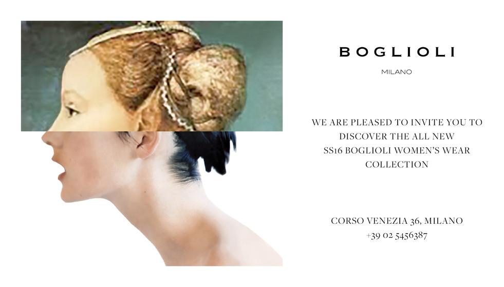 Boglioli. Invitation card design. 2016