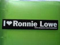 I <3 Ronnie Lowe Small Bumper Sticker