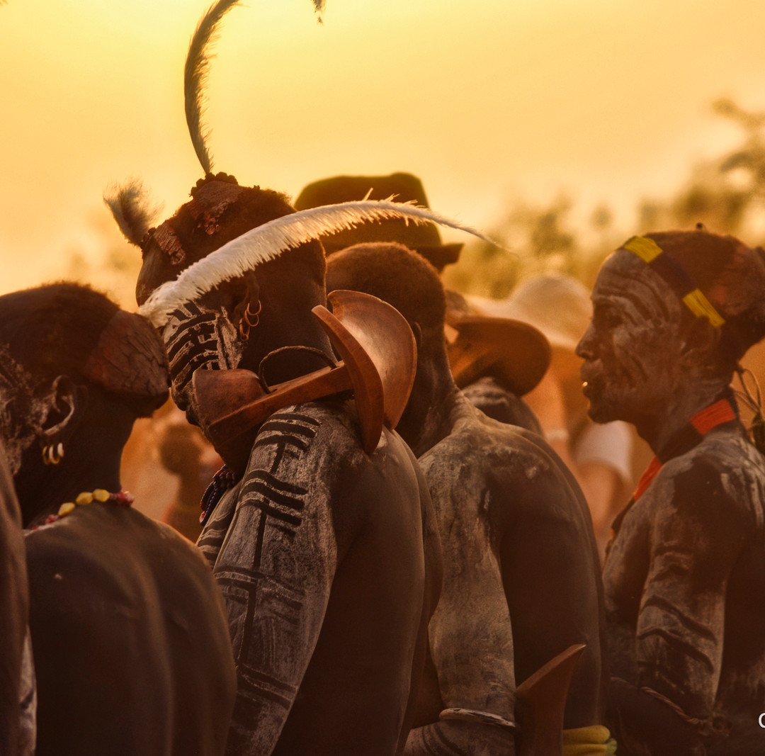 Light, Feathers and Warriors, Omo Valley, Southern Ethiopia