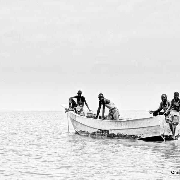 Fisherman on Lake Turkana, Kenya