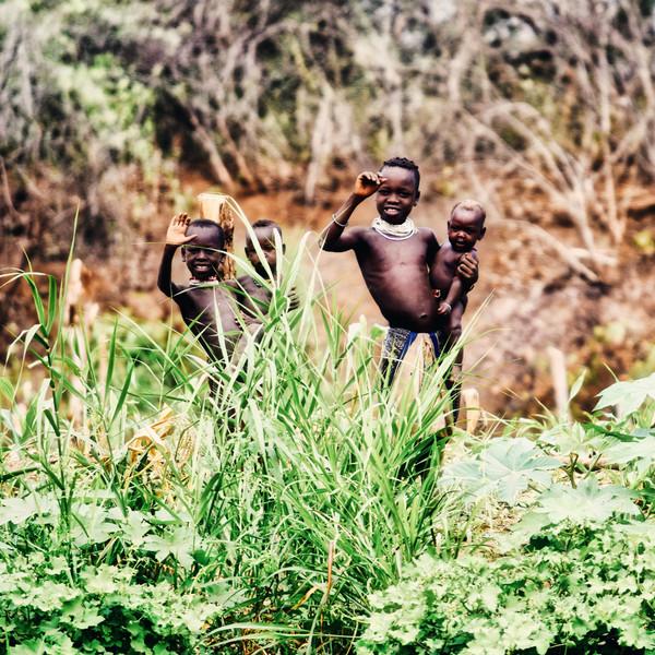 Greetings, Omo Valley, Ethiopia