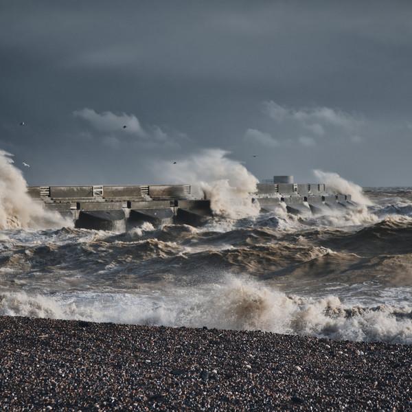 Stormy Seas, Brighton, England
