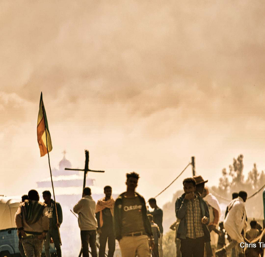 Smoke, Crosses and Flags