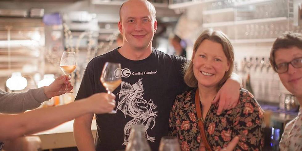 #hällarkväll 4 - Vinmakarbesök av Frank John ihop med Bonden & Vinet