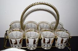 mid century shot glasses
