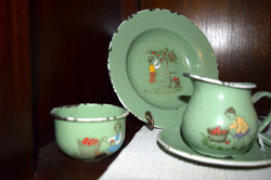 Enamelware Childs Dish Set