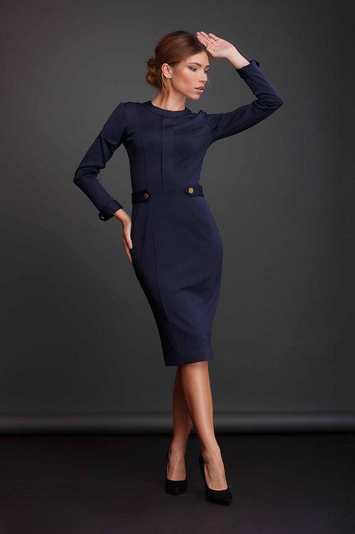 Платье футляр с планкой