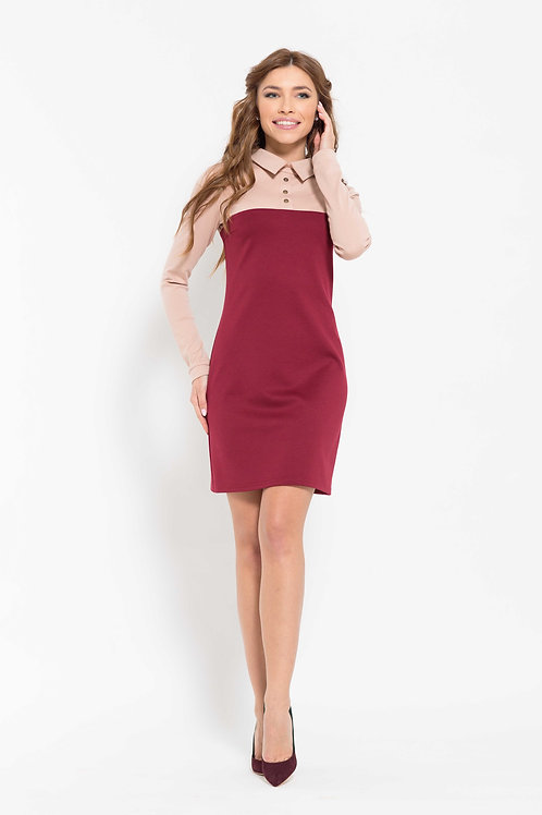 Платье свободного кроя двухцветное