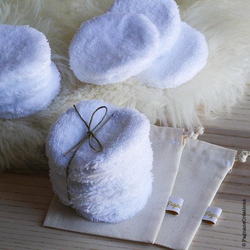 Disques lavables en coton velours