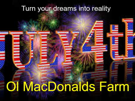Paint OlMacDs Red, White and Blue this Holiday