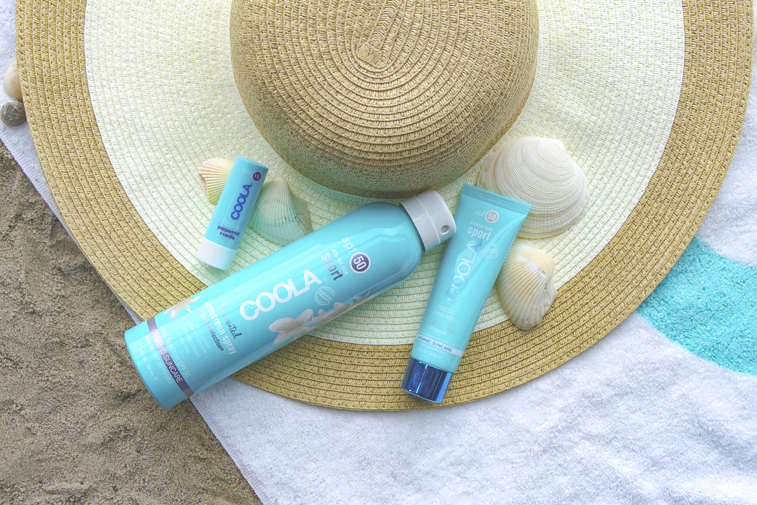 coola_beach_group_shot_spray_lip_lotion