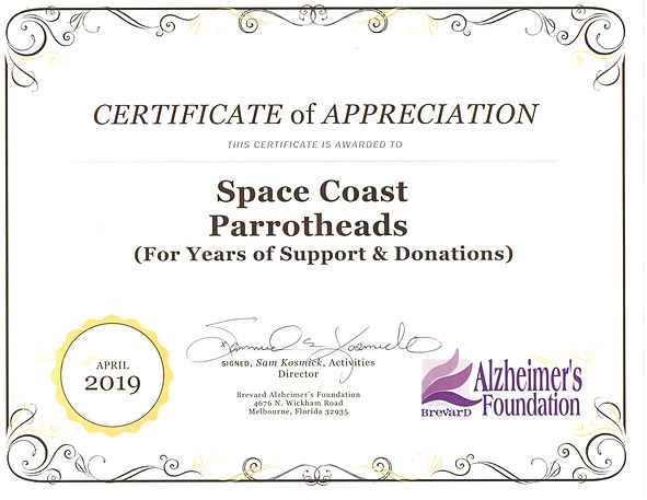 Alzheimer's Foundation Certificate Apr 2