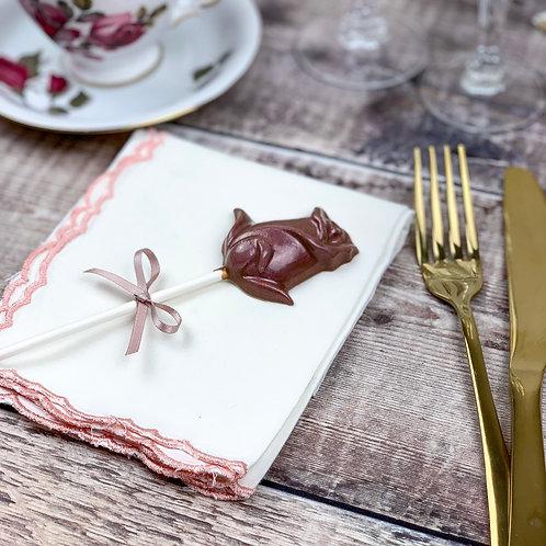10 Rose Lollipop Wedding Favours