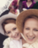 Jo & Sarah at the Jane Austen Festival in Bath
