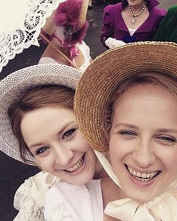 Jo & Sarah at the Jane Austen Festival in Bath