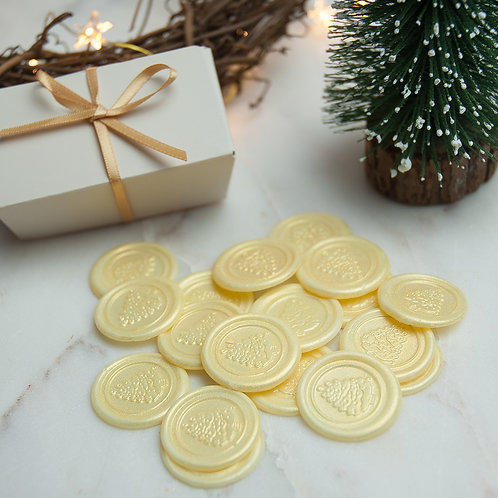 White Chocolate Christmas Tree Seals