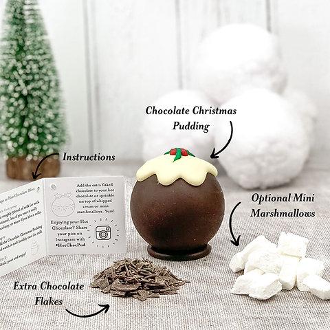 Christmas Pudding Hot Chocolate Bomb