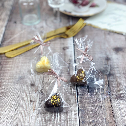 Golden Chocolate Hearts, Wedding Favours, 10