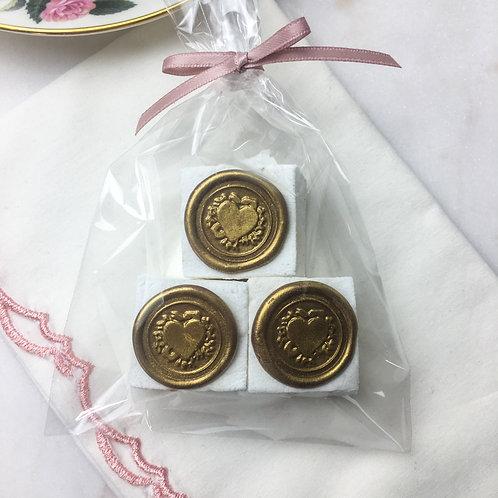 10 Bags of Vanilla Marshmallows & Chocolate Seals