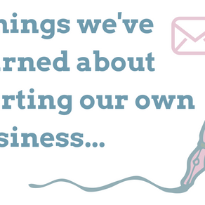5 things we've learned about starting our own business...
