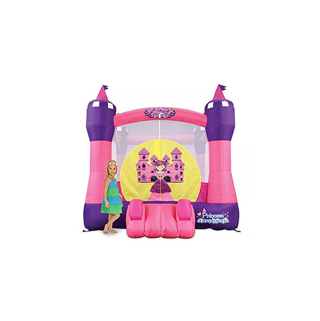 saltarin rosado inflable