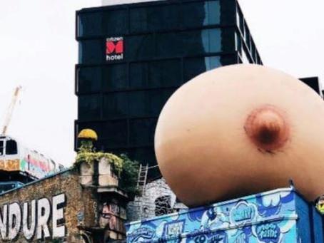 Senos inflables en los techos de Londres