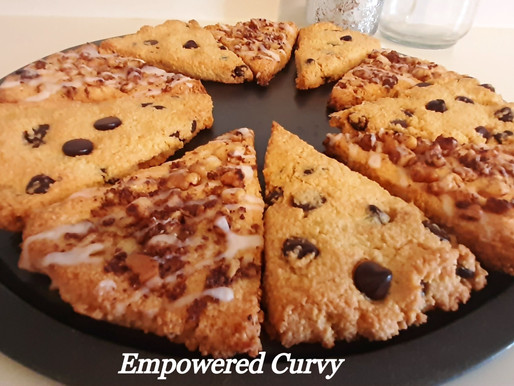 Low carb Delicious Nutty Chocolate Chip Scones