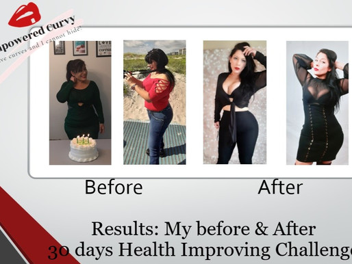 FINAL RESULTS of my 30 days Health Improving Challenge
