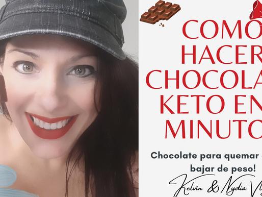 Receta de Chocolate KETO! Solo 3 ingredientes!