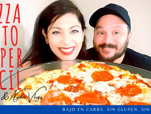 Receta super facil de Pizza Keto (Tutorial incluido)