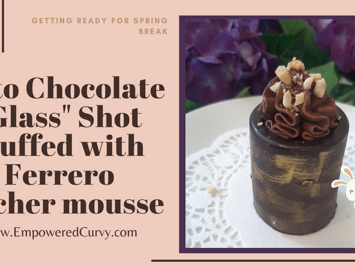 Keto Glass Shots filled with Ferrero Rocher mousse