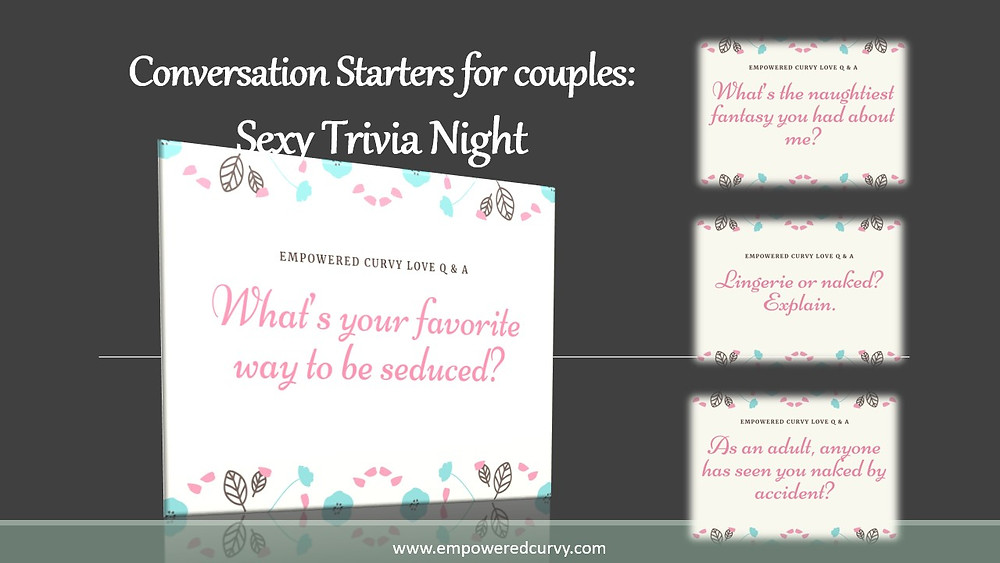 Conversation starters for couples, sexy games, sexy trivia, free printables, healthy marriage