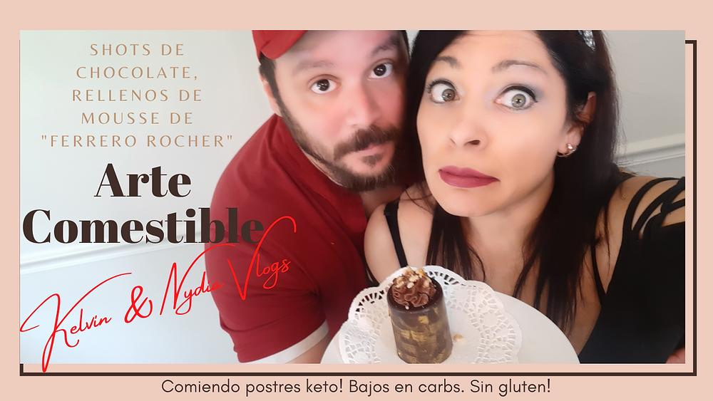 Kelvin & Nydia Vlogs te ensenan a preparar chocolate Keto. Arte comestible!
