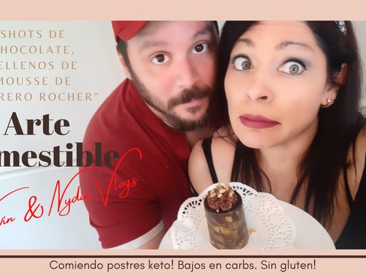 "Como preparar chocolate KETO? Vasos rellenos de mousse de ""Ferrero Rocher"". Keto. Sin gluten."
