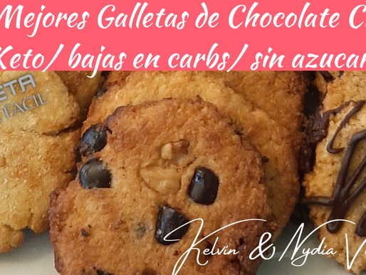 Las Mejores Galletas de Chocolate Chips! Keto/ bajas en carb/ sin gluten/sin azucar! (tutorial)