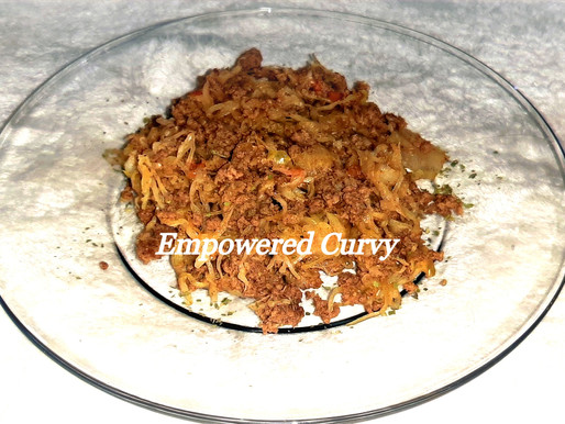 """Beef and """"Rice"""" for low-carb foodies"""