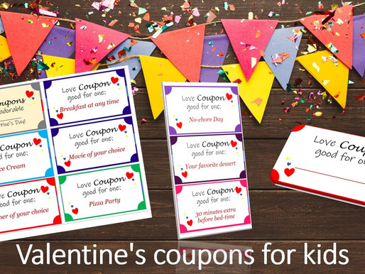 Valentine's Day Printable coupons for Kids