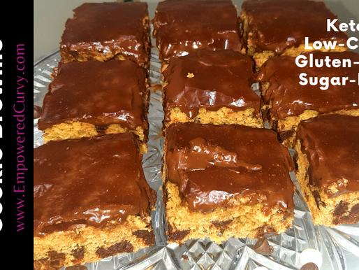 Chocolate Chip Cookie Brownie -Keto/low-carb/sugar-free
