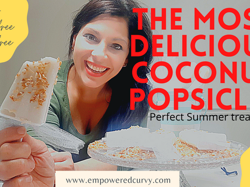 COCONUT POPSICLES- Perfect Summer treat! Sugar-free, Keto and kids approved