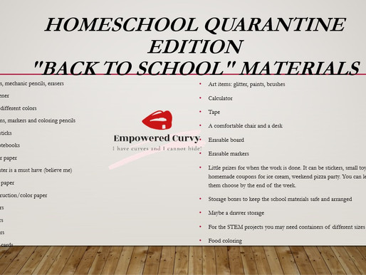 Homeschool Quarantine edition back to school. How to...