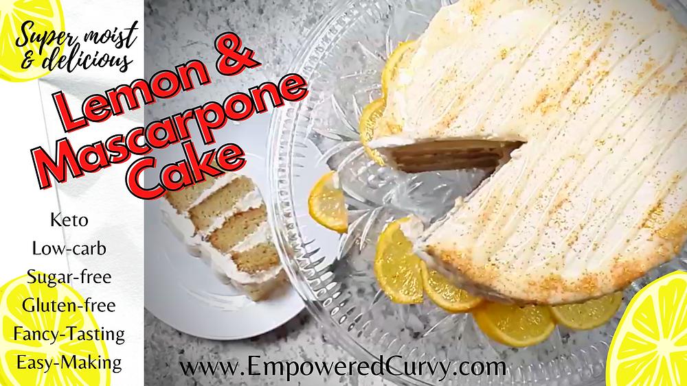 Lemon Mascarpone keto low-carb cake
