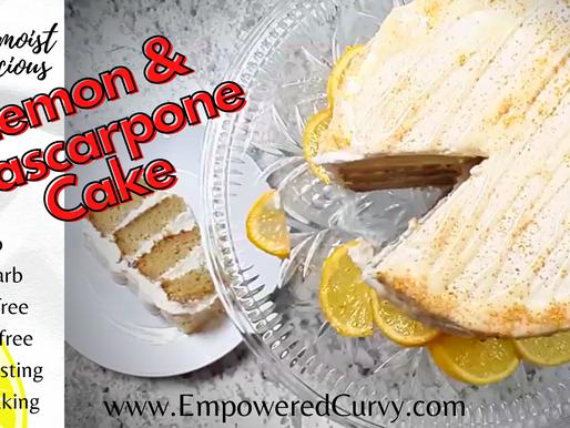 Super Moist Lemon & Mascarpone Cake (Keto*Low-carb*Gluten-free)