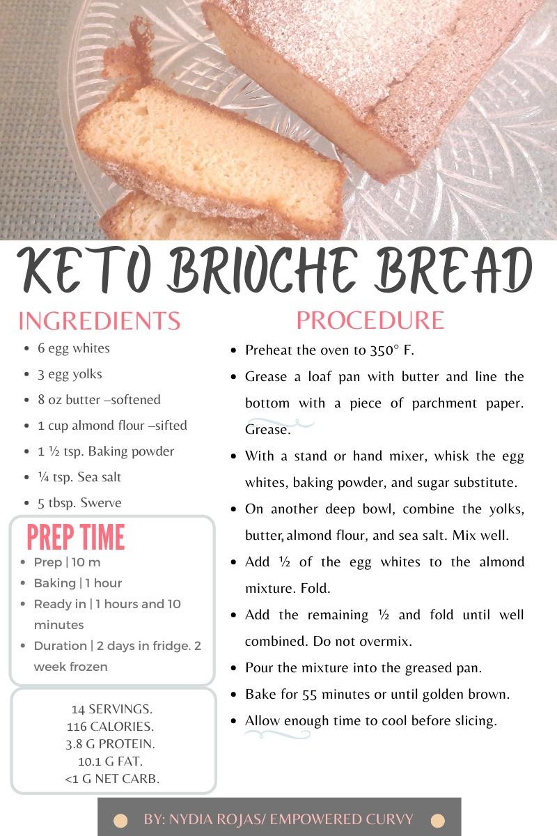 Keto Brioche Bread recipe. Low-carb. Gluten-free.