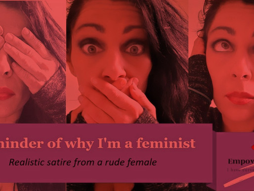 A reminder of why I'm a feminist (Realistic satire from a very rude female)