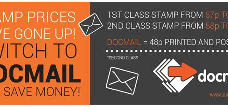 Stamp prices have gone up! Switch to Docmail and save money.