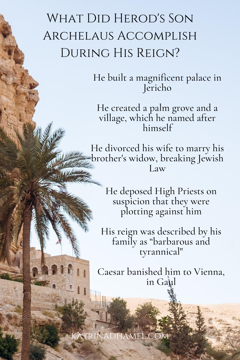 What did Herod's son Archelaus accomplish during his reign?