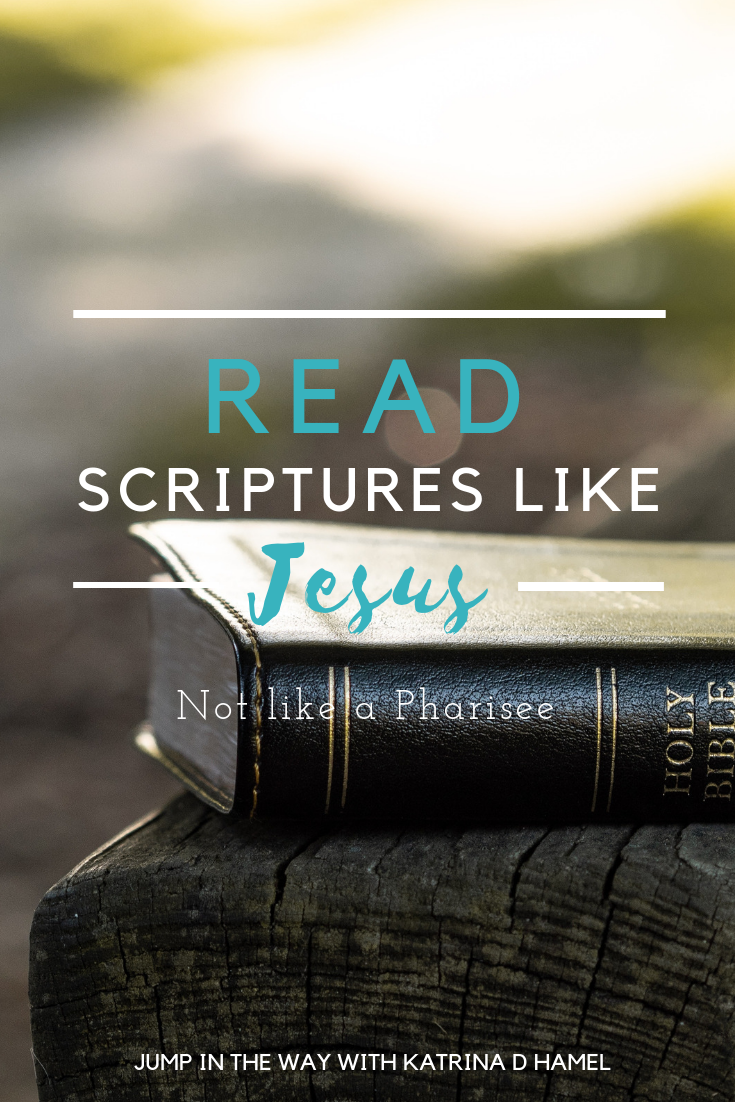 What do we do when confronted with a modern issue not answered in the Bible? We need to read scripture like Jesus, not like the Pharisees. Jump in the Way with Katrina D Hamel. Photo credit to Aaron Burden on Unsplash.