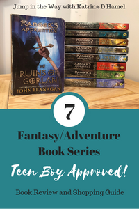 Buying books for teen boys can be so hard! Here are seven series approved by my own teenage reader! Stop by and recommend your own favorites!