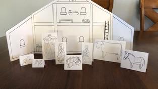 25 Piece Printable Nativity Scene