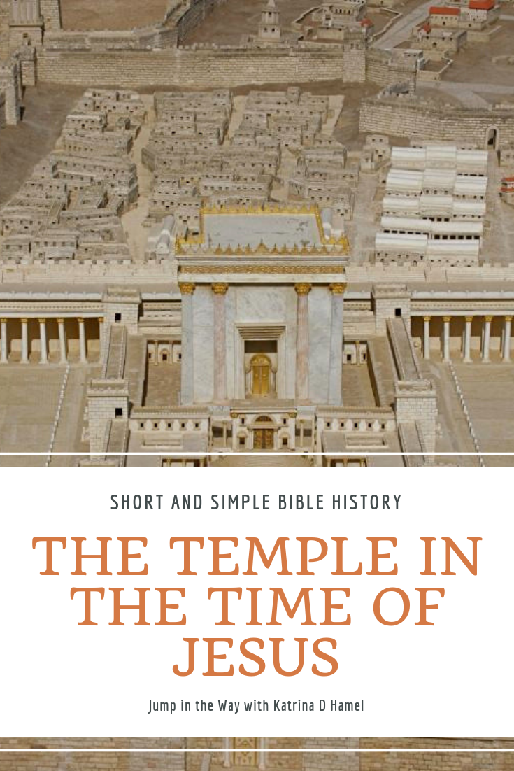 A model of the Jewish temple in Jerusalem as it would appear in the time of Jesus